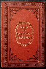 BINGER: Essai sur la langue Bambara parlée dans le Kaarta et le Bélédougou 1886