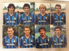INTER 8 CARTOLINE CALCIO UFFICIALI ANNI '90 MISURA FERRI BARESI BIANCHI MATTEOLI