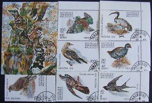 Madagascar- 1991 -BIRDS, 6 st.+1 S/Sh. cancelled, EO 57