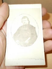 PHOTO CDV DE L'ABBE BOURBON CURE DE RICHELIEU 36 PAR TERUEL VERS 1860