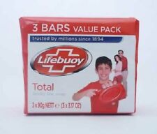 Lifebuoy Soap Total Family Bar Soap  3 x 90g  - Rarely Available Soap