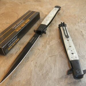 TAC FORCE Extra Large MOTHER of PEARL Spring Assisted BIG Pocket Knife