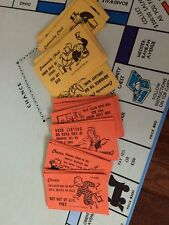 Vintage 1961 Monopoly Chance And Community Chest Cards Complete  32 Cards
