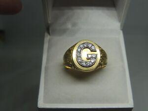 Chevalière ancienne or 18 carats et diamants