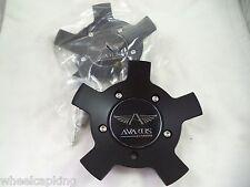 Avarus Wheels Flat Black Wheel Center Caps # MS-CAP-Z216 / MS-CAP-Z214 (2 CAPS)