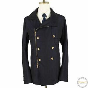 NWOT Giorgio Armani Blue 61% Silk Glossy Italy Double Breasted Jacket 46US