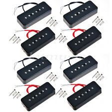 4 Sets Black Guitar Bridge Neck Pickup For GB P90A Soap Bar Pickup replacement