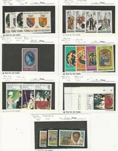 Turks & Caicos, Postage Stamp, #213//461 Mint NH, 230 LH, 1970-80, JFZ
