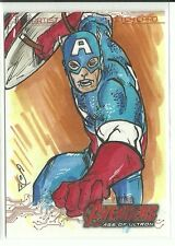 Upper Deck Avengers Age Of Ultron Captain America Color Sketch by Jason Sabol