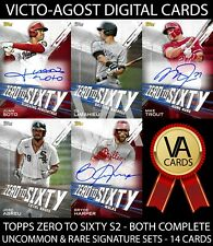 Topps Bunt Zero to Sixty S2 BOTH UNCOMMON & RARE SIGNATURE SETS 14 Cards [BUNT]