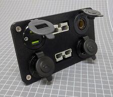 50 Amp Anderson Plug USB / Cigarette Socket Flush Mount Recessed Plate NO socket