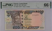 Nigeria 200 Naira 2019 P 29 Gem UNC PMG 66 EPQ