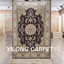 YILONG 2'x3' Oriental Hand Knotted Super Silk Area Carpet Traditional Rugs 814B