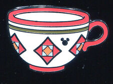 DLR 2015 Hidden Mickey Mad Tea Party Cups Red Orange Disney Pin 111946