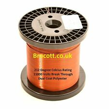 0.18mm - ENAMELLED COPPER WINDING WIRE, MAGNET WIRE, COIL WIRE - 750 Gram Spool