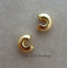 100 gold plated crimp bead knot cover findings 4mm