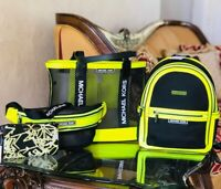 NWT Michael kors Danika Net Medium backpack/tote/waistpack/double zip wallet