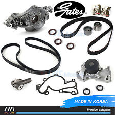Gates Timing Belt Kit Belt Tensioner Water Oil Pump for Sonata Santa Fe Tiburon