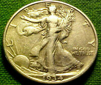 1934-S Walking Liberty Half Dollar 50c ~ VERY NlCE COIN w/ SOLID DETAILS  81PS