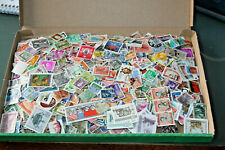 WORLDWIDE MIX OF OFF PAPER STAMPS IN BOX - ALL ERAS MNT & USED - 2500+