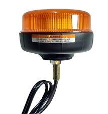 Mini Led Beacon Single Bolt Mount Amber Multi Function 12V 24V Maypole Mp4072