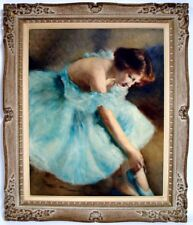 "Original oil painting on canvas ""Ballerina"" by Pal Fried"