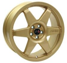 Revolution Rally 7.5x17 Millennium Alloy Wheel ET48 Gold For Subaru GC8 Impreza