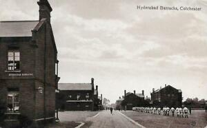 Early 1900s Hyderabad Barracks Colchester Essex Used RP Postcard