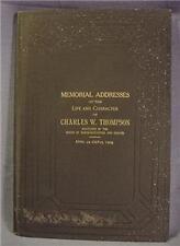 1905 Memorial Addresses Charles W. Thompson Alabama