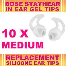 10x Silicona Reemplazo medio Gel para oreja de punta para Bose Stayhear Auriculares Auriculares