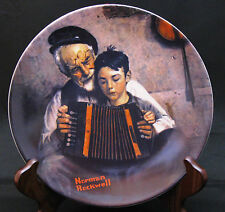 "Norman Rockwell Heritage #5 - ""The Music Maker"" - Knowles Collector's Plate"
