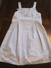 Carters Girl Blue Cotton Floral Pleated Sun Dress Sundress Size 6X EUC