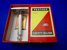 FEATHER  No.1 Vintage Safety Razor 1960's Made In Japan In Mint Condition #1