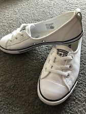 Ladies Converse Ballet Lace Up Sneakers. Size 7. Leather