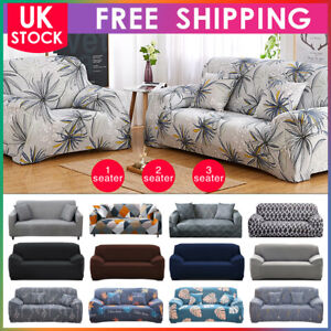 Sofa Covers Easy Fit Stretch Protector Soft Soft Couch Cover Elastic 1-3 Seater