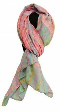 "34"" X 64"" Soft, Voile Scarf with Pink Southwestern Design"