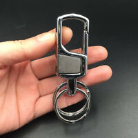 2pcs Fashion 2 Loop Men Stainless Steel Keyring Keychain Keyfob Belt Key Holder