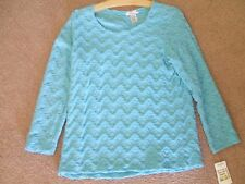 RAFAEL ESSENTIAL WOMEN'S Sz LARGE TURQUOISE/BLUE TOP....NWTS  MSRP $42.00