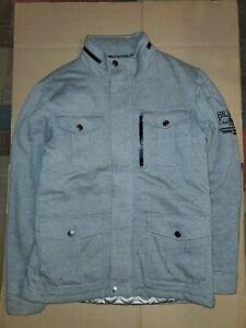 Billabong Zipper Grey Bomber Jacket Men Size Medium