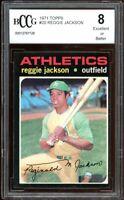 1971 Topps #20 Reggie Jackson Card BGS BCCG 8 Excellent+