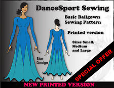 Ballgown sewing pattern for a basic Dance Sport Ballroom Gown, plus free manual