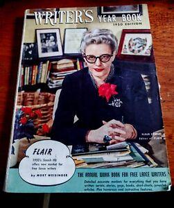 Vintage 1950 MAGAZINE The WRITER'S YEAR BOOK w/Bio Editor FLAIR MAGAZINE