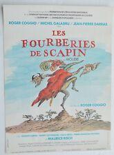AFFICHE CINEMA / LES FOURBERIES DE SCAPIN / 53 X 39 cm / Roger COGGIO