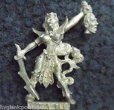 1999 dark elf witch command champion citadel carton warhammer prêtresse khaine d&d