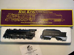 MTH Rail King Santa Fe 4-8-2 L-3 Mohawk Steam Locomotive 3000 NYC EX Box CLEAN!!