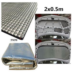 Insulation Thermal Sound Deadener Cotton Mat For Car Body Engine Hood 2x0.5mx5mm