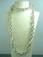 Turkish Handmade Jewelry 925 Sterling Silver Chain Men Necklace