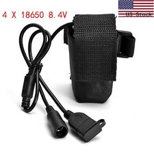 Bicycle Lamp Bike Torch Light 6400mAh 8.4V DC/USB Rechargeable 18650 Battery US