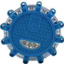 Blue 16LED Round Beacon Emergency Strobe Flashing Warning Light Auto Car Lamp