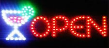 Ultra Bright Led Neon Light Animated Wine Beer Bottle Cup Bar Open Sign B146